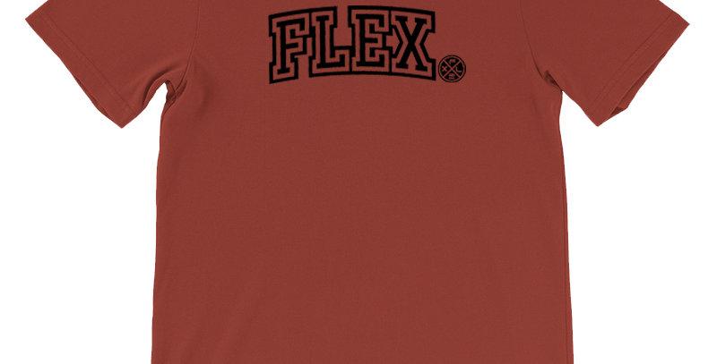 FLEX Collegiate Unisex Tee - Rust