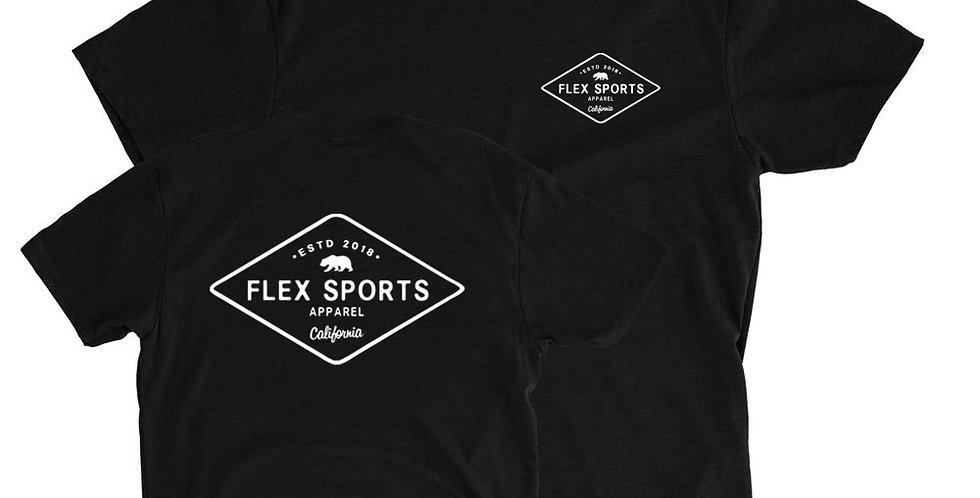 Flex Sports California Tee - Black