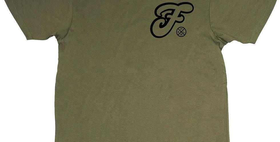 F Script Tee - Green