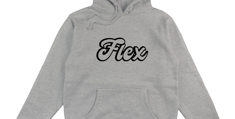 Flex Script Premium Hoodie - Gray