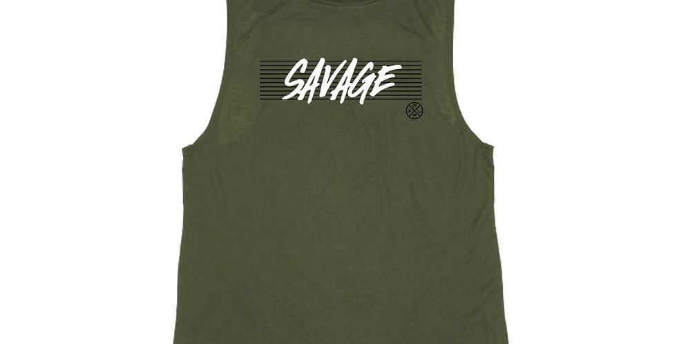 Women's Savage Muscle Tee - Green