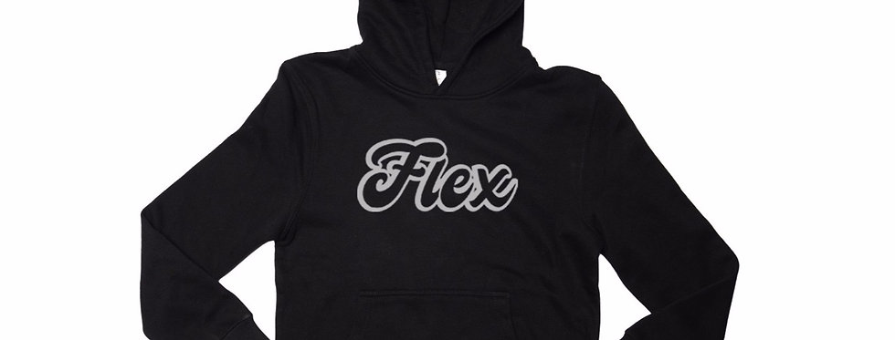 Flex Script YOUTH Hoodie - Black