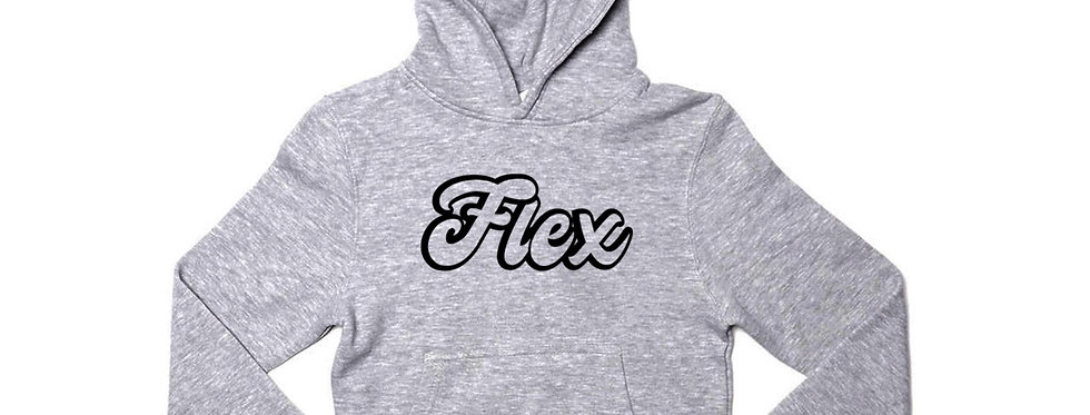 Flex Script YOUTH Hoodie - Gray