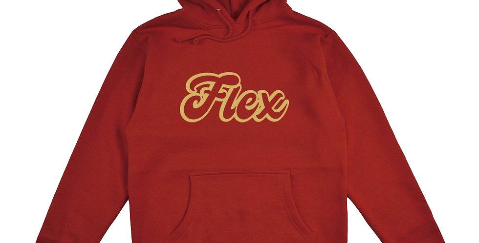 Flex Script Premium Hoodie - Red