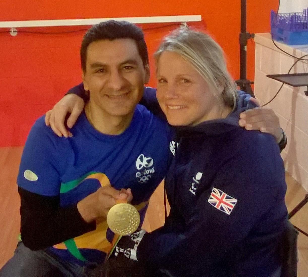Gold medalist Karen Dark
