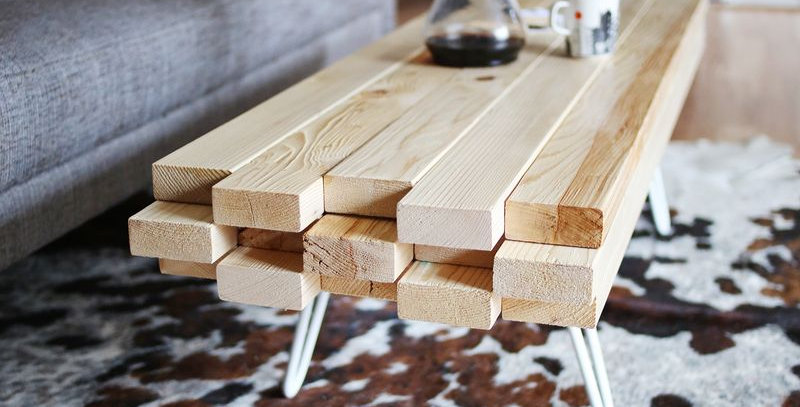 Timber Masif Ahşap Orta Sehpa