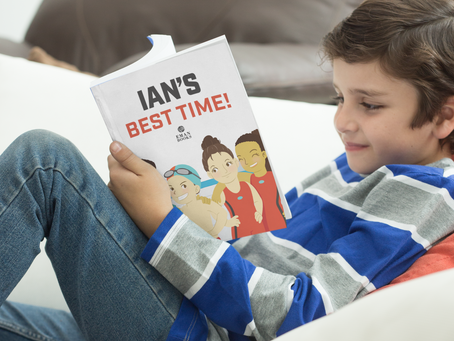 Personalized Competitive Swim Books for Kids