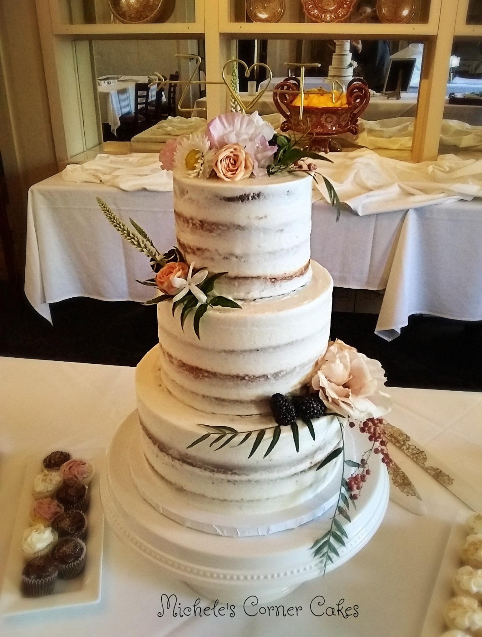 Wedding cake bakery santa rosa ca micheles corner wedding cakes barley frosted wedding cake junglespirit Choice Image