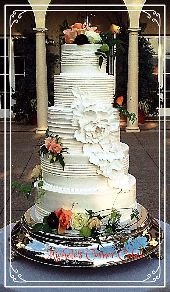 Cau St Jean Winery Wedding Cake Bakery Santa Rosa Ca Michele S Corner Cakes