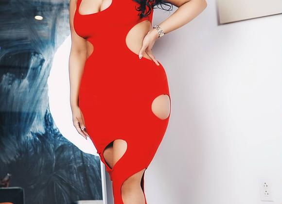 Focus Maxi Dress (Red)