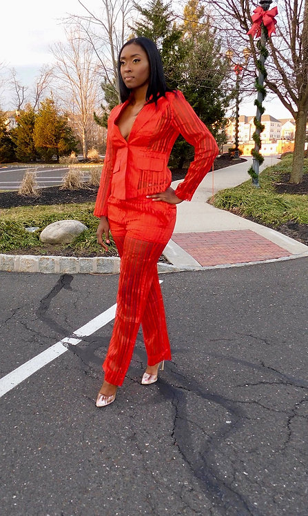 Lady in Red Trouser