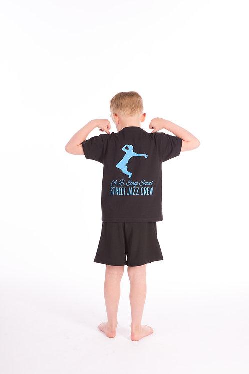 A.B Stage School T-shirt- Street Jazz Logo