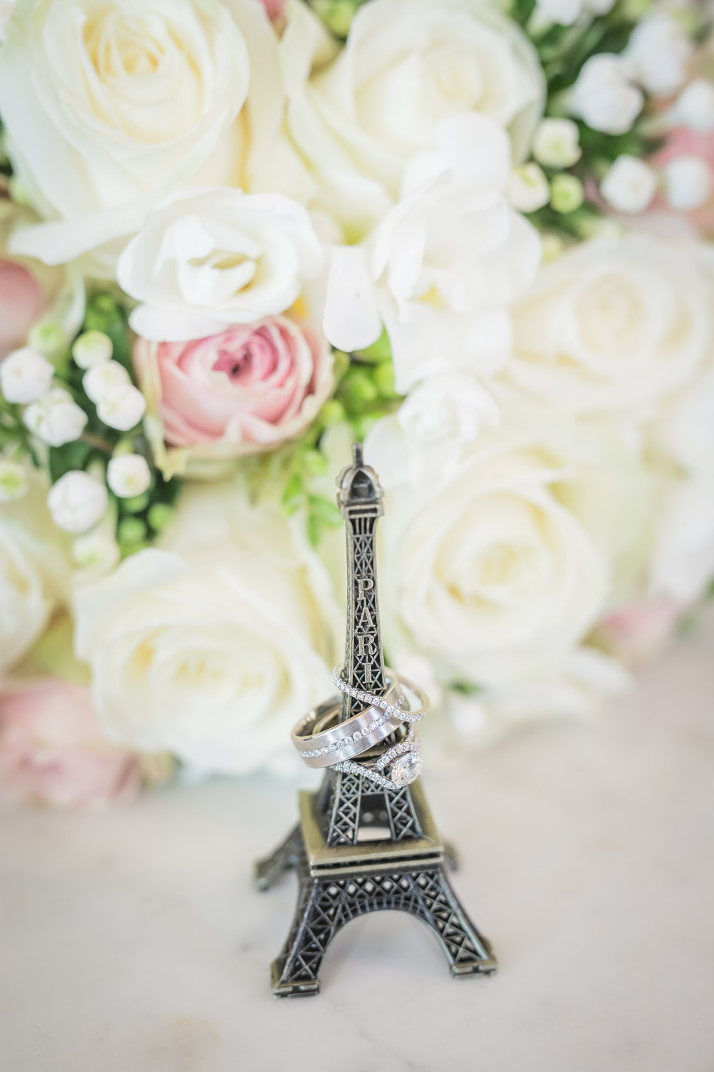 Eiffel Tower with Wedding Bands