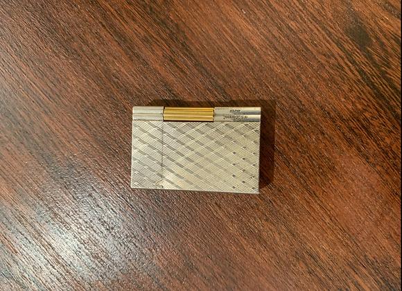 Briquet Dupont , argenté et doré , grand format .