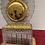 Thumbnail: Pendule en cristal et bronze