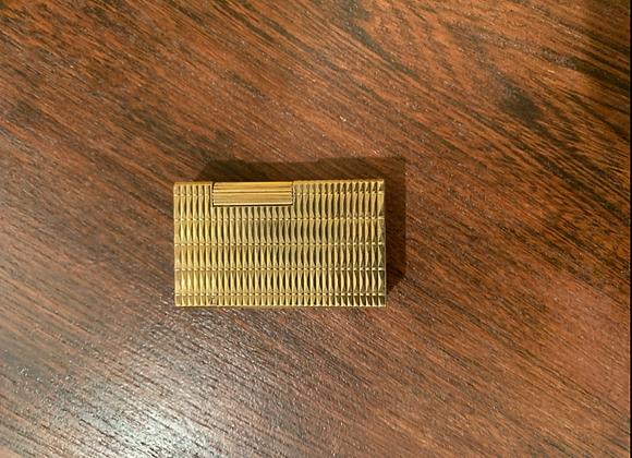 Briquet Dupont grand format , doré