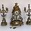 Thumbnail: Garniture de cheminée en Regule et  porcelaine de sevres