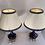 Thumbnail: Paire de lampes en porcelaine de sevres bleu