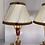 Thumbnail: Une paire de lampes en tôle rouge .