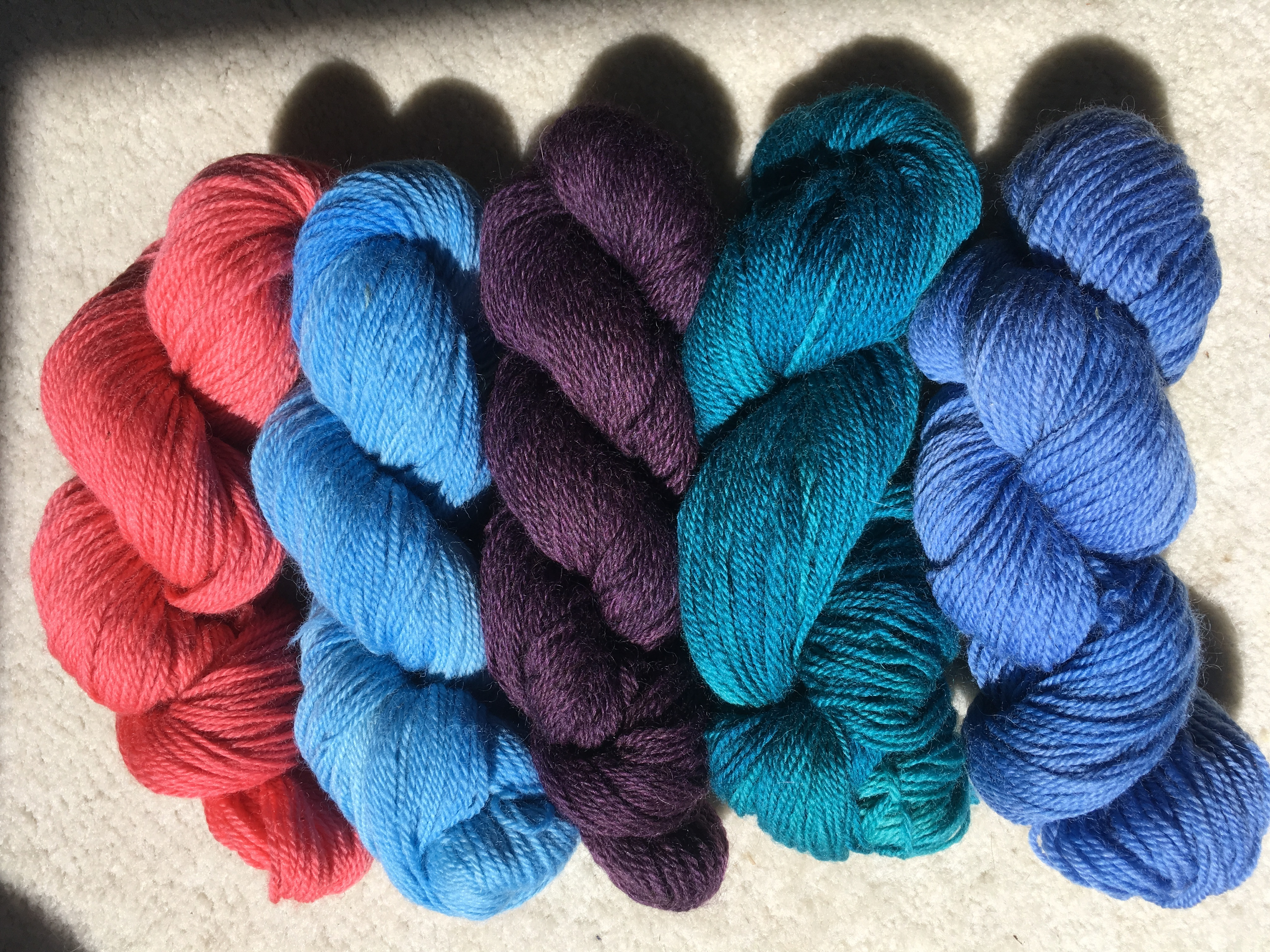 Hand-Dyed Worsted Yarn