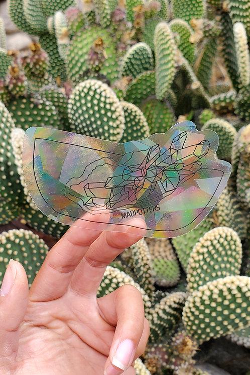 Geode Sun Catcher Sticker