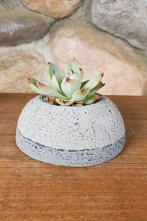 Half Circle Cement Pot