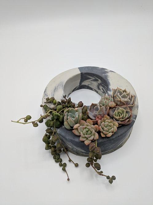 Mini Marbled Cement Wreath