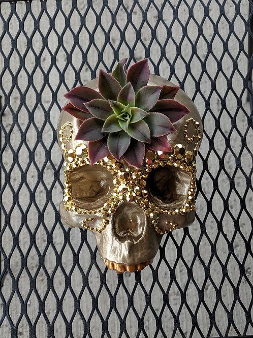 Gold Mask Gem Mini Skull