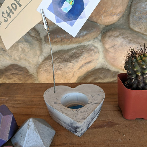 [#4] Marbled Heart Photo Holder