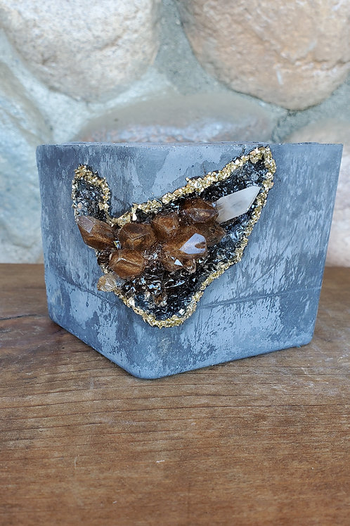 (#502) Copper Points LUXE Crystal Geode - Square