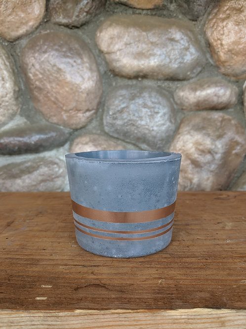 Grey/Rose Gold Small Pot