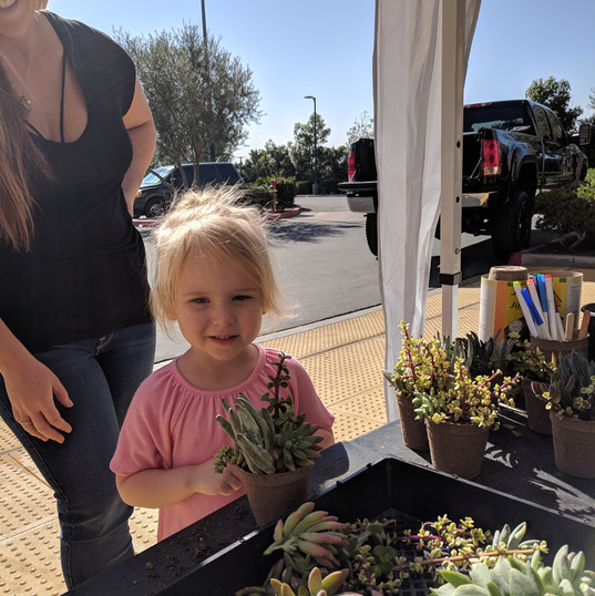 Kids & Succulents
