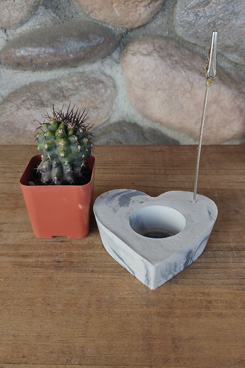 [#7] Marbled Heart Photo Holder
