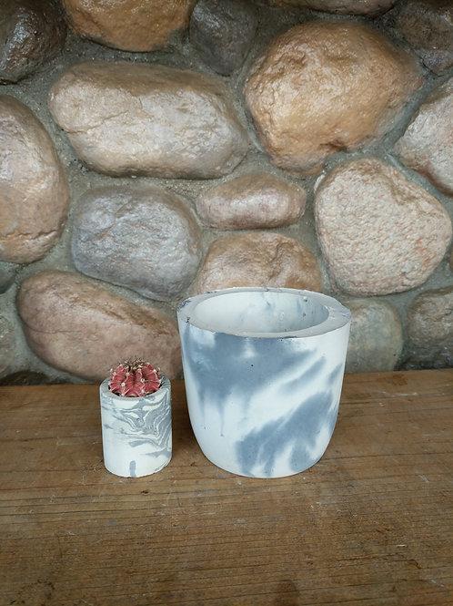 Marbled Cylinder Pot (MEDIUM)