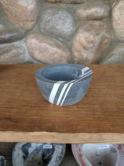 Grey/White Small Bowl