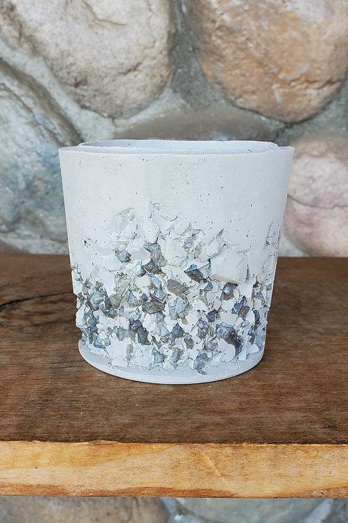 (#303) Silver Druzy - Sm Pot*Straight