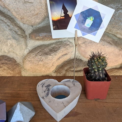 [#8] Marbled Heart Photo Holder