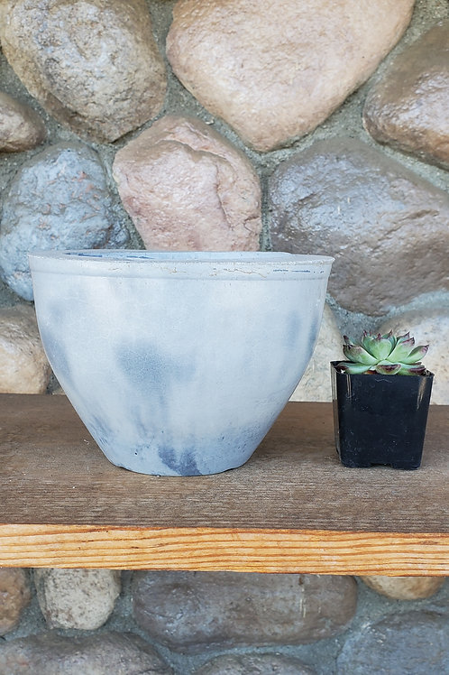 (#3109) Light Marbled Taper Pot