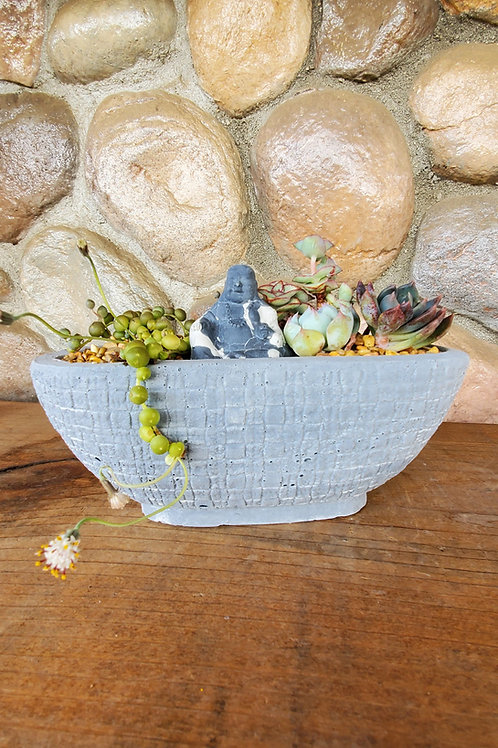 Oval Cement Planter