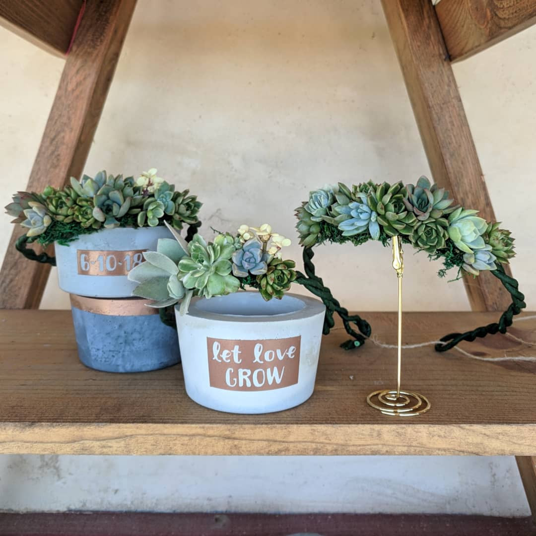 Flower Girl Crowns + Pots