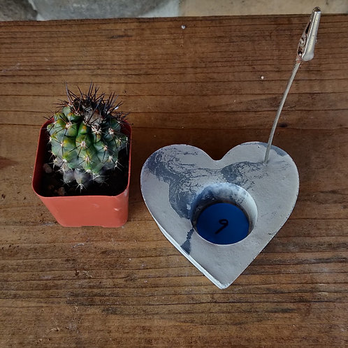 [#9] Marbled Heart Photo Holder