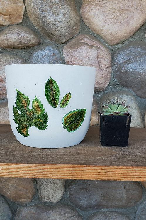 (#3103) Botanical Print Pot