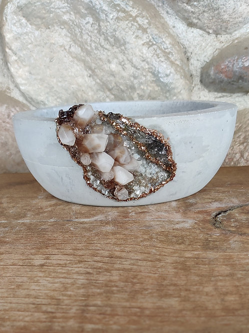 (#444) Rio Grande LUXE Crystal Geode - Md Shallow bowl