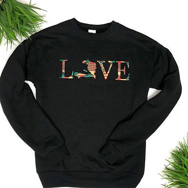Love Haiti X Africa sweatshirt
