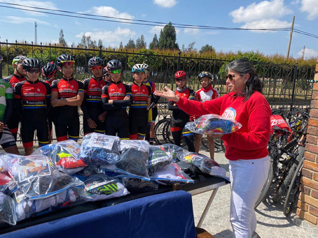 With Go Cycling we made a donation day in Sogamoso