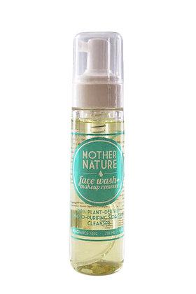 MOTHER NATURE FACEWASH + MAKEUP REMOVER 210 ML