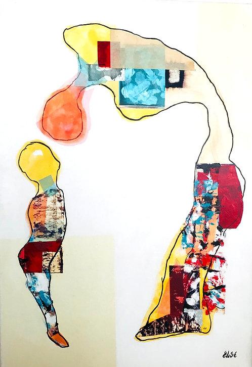"""""""L'homme et l'enfant"""" 116x80 cm"""