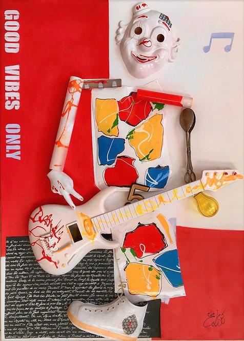 """ Clown ""  100x73x8 cm"