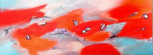 """Dans la vallee"" 150x50 cm"