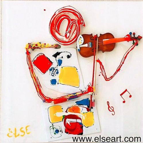 """""""Le violoniste"""" 80x80x8 cm"""